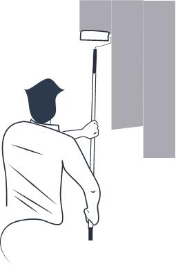 فرد درحال نقاشی دیوار - تصویر از دلماجیو