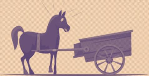 قرار دادن گاری در برابر اسب